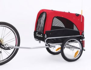 If you have a small dog then the Sepnine dog trailer for small dogs is right for your